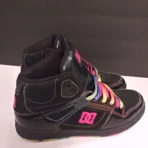 DC Rainbow high tops